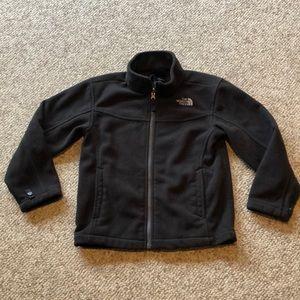 The North Face black zip up front fleece jacket 7-